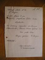 LITHUANIA Bill Sergancios Apolionijos Petrauskaitės Isvezimas,E.Angeris Zalias Kalnas Kaunas 1925 - Invoices & Commercial Documents