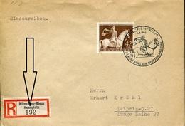 37540 Germany Reich,special Postmark Registered Cover Munchen Riem Rennplatz  Braune Band Von Deutschland - Germania
