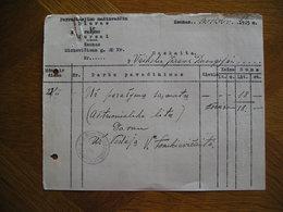 LITHUANIA Bill Perrasinejimo Masinrasciu Biuras V.Tomkievicaite Kaunas 1925 - Invoices & Commercial Documents