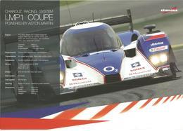 Carte TEAM CHAROUZ RACING SYSTEM ( LOLA ASTON MARTIN LMP1 ) Dédicacée Par Jan Charouz   - Endurance LE MANS SERIES 2008 - Autographes