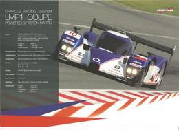 Carte TEAM CHAROUZ RACING SYSTEM ( LOLA ASTON MARTIN LMP1 ) Dédicacée Par Stefan Mucke   - Endurance LE MANS SERIES 2008 - Autographes