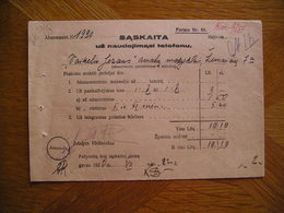LITHUANIA Phone Bill Kaunas 1920 - Invoices & Commercial Documents