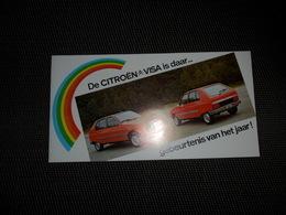 Document ( 349 )   Publicité  Reclame  Auto  Voiture  Uitnodiging  Invitation Citroën  VISA - Faire-part