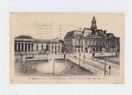 Sur Carte Timbre 20 C. Oblitéré 1937. CAD Tours Gare. (629) - Marcophilie (Lettres)
