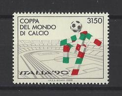 ITALIE. YT  1782  Neuf **  Italia 90. Coupe Du Monde De Football En Italie  1988 - 6. 1946-.. Republik