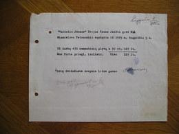 LITHUANIA Bill Cemantines Plytos Stanislovas Petrauskis Kaunas 1925 - Invoices & Commercial Documents