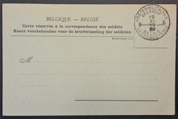 Carte De Franchise Militaire CORRESPONDANCE DES SOLDATS BELGES Imprimée à CALAIS 1915 - Marcophilie (Lettres)