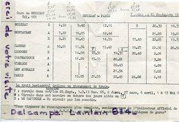 - S N C F - Horaire De Train - Ligne MOISSAC - Paris, Septembre 1966, Le Capitole, BE, Scans.. - Europe