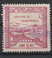 Sorrento. Marca Municipale Diritti Di Segreteria L. 0,40 - Italia