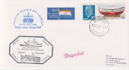 DDR/Germany 1991 Polarstern / Besuch Georg Forster Station Ca 30 III 91 Cape Town Cover (40326) - Poolshepen & Ijsbrekers