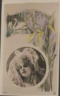 FANTAISIE - Femme - Portrait DORGÈRE  - Signé Reutlinger Paris - Artistes