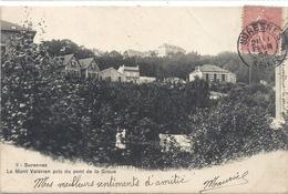 SURESNES . LE MONT VALERIEN PRIS DU PONT DE LA GROUE . DOS NON DIV AFFR SUR RECTO LE 11 FEVR 1904 - Suresnes