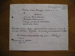 LITHUANIA Bill Uzpiltos Moliu Lubos Antanas Balsevicius Kaunas 1925 - Invoices & Commercial Documents