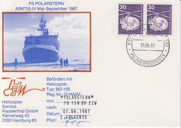 Germany 1987 Polarstern Heliflight 1.06.1987 Signature Postcard (40330) - Poolvluchten