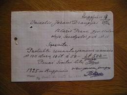 LITHUANIA Bill Durys Pranas Blazys Slabada 1925 - Invoices & Commercial Documents