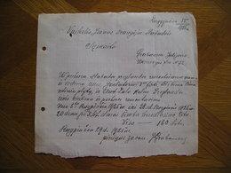 LITHUANIA Bill Prieziura Julijonas Grabauskas Slabada 1925 - Invoices & Commercial Documents