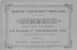 10 - AUBE / Pont Sainte Marie - 102694 - Carte De Correspondance - Bal Dans La Salle De M. Bezain - Format 12 X 8cm - France