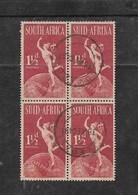 S.Africa 1949 U.P.U  1/2d Block Of 4, Used LOVEDALE 18 XI 49 C.d.s. - Zuid-Afrika (...-1961)