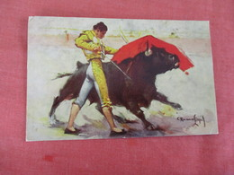 Signed Artist-- Chest Pass By Velazquez-- Mexico Stamp & Cancel  Ref 3053 - Corrida