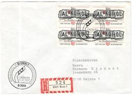 GERMANIA - GERMANY - Deutschland - ALLEMAGNE - 1982 - Kein Alkohol Im Straßenverkehr - FDC - Bonn - Einschreiben - Regis - [7] Repubblica Federale