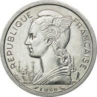 Monnaie, Côte Française Des Somalis, 2 Francs, 1959, Paris, SUP, Aluminium - Colonias