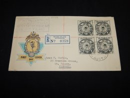 Australia 1955 Heart Island Registered Cover To Victoria__(L-23406) - 1952-65 Elizabeth II : Pre-Decimals