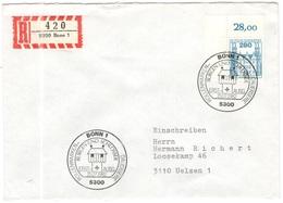 GERMANIA - GERMANY - Deutschland - ALLEMAGNE - 1982 - 280 Burgen Und Schlösser - FDC - Bonn - Einschreiben - Registered - [7] Repubblica Federale