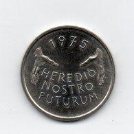 Svizzera - 1975 - 5 Franchi Commemorativi - HEREDIO NOSTRO FUTURUM - (MW1448) - Schweiz