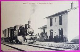 Cpa Baixas La Gare Train Rarissime Carte Postale 66 Pyrénées Orientales Proche Peyrestortes Perpignan Saint Esteve St - Non Classés