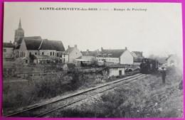 Cpa Sainte Genevieve Des Bois Rampe Peteloup Train Tramway Ligne Chatillon Colligny Nogent Vernisson 45 Loiret Ste Rare - Frankreich