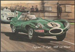 Jaguar D-Type At The 1955 Le Mans - Golden Era Postcard - Passenger Cars