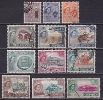 CYPRUS 1955 Queen Elisabeth II Set To 100 Mills Vl. 173 / 184 - Cyprus (...-1960)