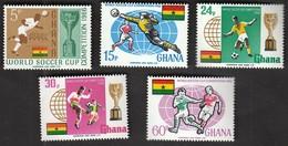 Ghana / Football, Soccer / World Cup England 1966 / Michel 269-273 - 1966 – England