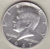 Etats-Unis . Half Dollar 1967 . Kennedy . Argent - Émissions Fédérales