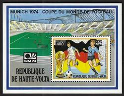 Upper Volta / Football, Soccer / World Cup Germany 1974 / Michel Bl 22 - Fußball-Weltmeisterschaft