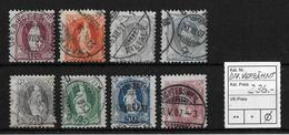 1882-1904 STEHENDE HELVETIA → 8 Starke Verzähnungen / Exzentr.Druck - Oblitérés