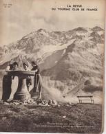 La Revue Du Touring Club 1938 Avril, Le Lautaret, ANGKOR, Le GARD La CEZE,  Le Sommaire Est Scanné. - Livres, BD, Revues