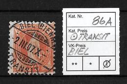 1882-1904 STEHENDE HELVETIA → SBK-86A Biel/Bienne Transit - 1882-1906 Coat Of Arms, Standing Helvetia & UPU