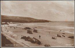 Porthmeor Beach, St Ives, Cornwall, 1934 - Valentine's RP Postcard - St.Ives
