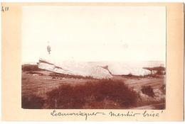 Dépt 56 - LOCMARIAQUER - Menhir Brisé - Photographie Collée Sur Carton D'origine, 1904 - Photo - Locmariaquer