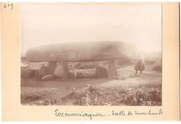 Dépt 56 - LOCMARIAQUER - Table Des Marchands (dolmen) - Photographie Collée Sur Carton D'origine, 1904 - Photo - Locmariaquer