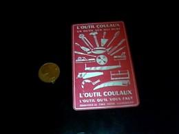 Mini Calendrier Publicitaire En  Metal  Outils  Coulaux Annee 1952 - Calendars