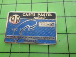 818c Pin's Pins / Rare Et De Belle Qualité / THEME FRANCE TELECOM / BEZIERS CARTE PASTEL NATIONALE - Space