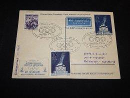 Austria 1956 Melbourne Olympic Games Stationery Card To Australia__(L-21595) - Ganzsachen