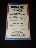 Blotter Flying Rates Cincinnati Indianapolis Chicago__(L-21071) - Transports