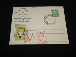 Brazil 1955 Exposicao Nacional Animais Cancellation Card__(L-23496) - Lettres & Documents