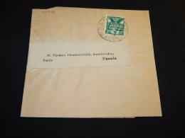 Czechoslovakia 1921 Praha Wrapper To Sweden__(L-23816) - Entiers Postaux