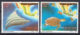 Mexico MNH Pair - Marine Life
