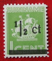 Hulpuitgifte Overprint Scheepje NVPH 210 1945 MH / Ongebruikt SURINAME / SURINAM - Surinam ... - 1975
