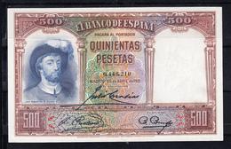 ESPAÑA 1931  500 PESETAS. JUAN SEBASTIAN ELCANO . EBC. CASI SIN CIRCULAR B030 - [ 2] 1931-1936 : Republic